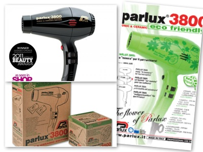 Parlux 3800 Hair Dryer Professional Compact Ionic Ceramic