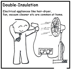 double insulated hair dryer