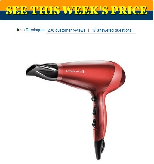 Remington AC9096 Silk Ceramic Ionic AC Professional Hair Dryer, Red